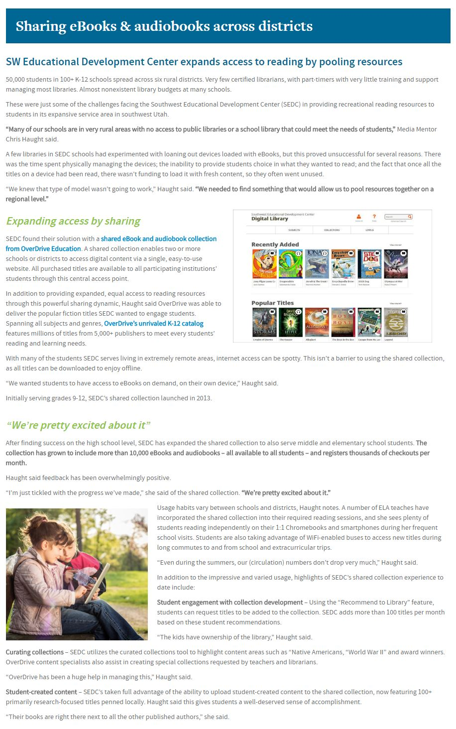 Understanding ebooks audiobooks for schools overdrive education the southwest educational development center ut delivers ebooks and audiobooks to schools across six fandeluxe Image collections